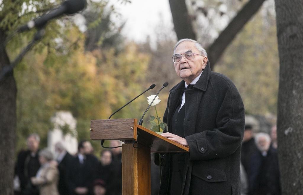 Mécs Imre Göncz Árpád temetésén